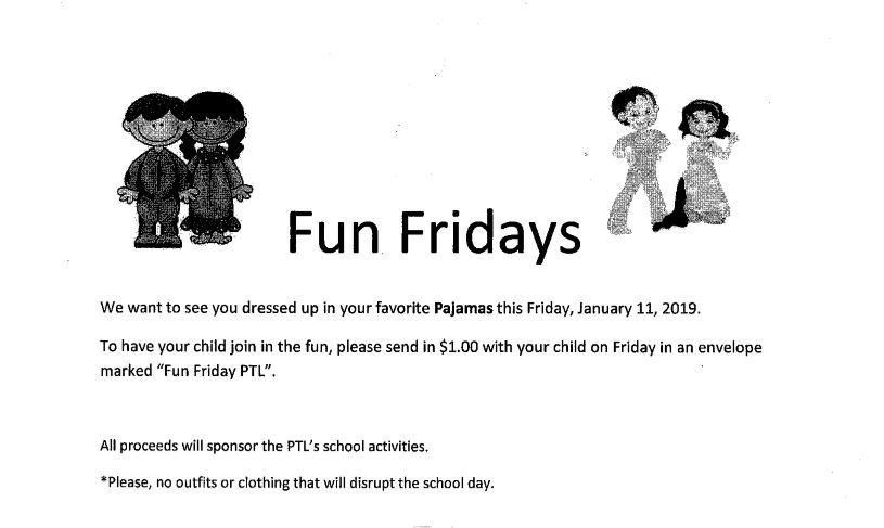 Fun Fridays-Pajamas Day